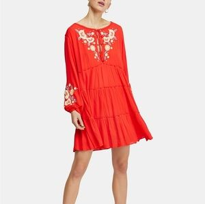 Free People Spell On You Floral Keyhole Dress